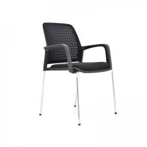 Silla interlocutora asiento tapizado espaldar en malla